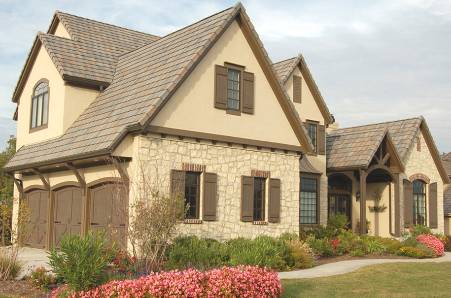 French country model home by fred riley custom homes for Custom french country house plans